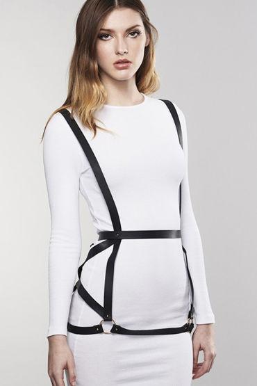 Bijoux Indiscrets MAZE Arrow Dress Harness, черная Портупея женская madmilk портупея
