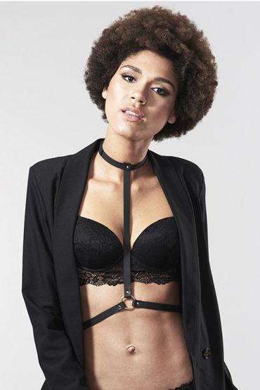 Bijoux Indiscrets MAZE I Harness, черная Портупея женская bijoux indiscrets pom pom черная кисточка из перьев