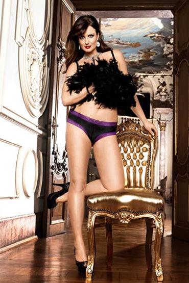 Baci трусики, черные С кружевной окантовкой популярные товары для взрослых baci lingerie женское нижнее белье