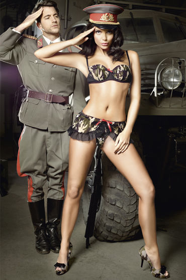 Baci Сексуальная Сержанта Лиф на косточках и мини-юбка baci сексуальная служанка мини платье воротничок и перчатки