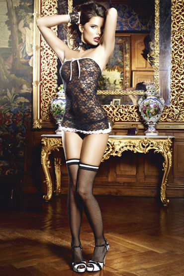 Baci Сексуальная Служанка Мини-платье, воротничок и перчатки fm 01 27 чайная пара глориоза pavone
