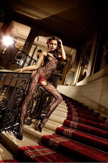 Baci кэтсьюит, черный С вырезами на бедрах livia corsetti miguela бэби долл и трусики