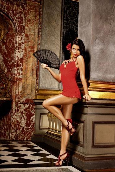 Baci мини-платье, красное С чашечками на косточках цены онлайн