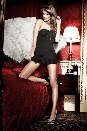 Baci мини-платье, черное Без бретелек цена