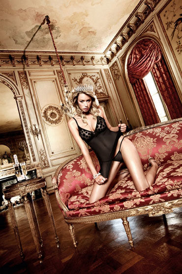 Baci мини-платье, черное В крупный горошек платье passion line