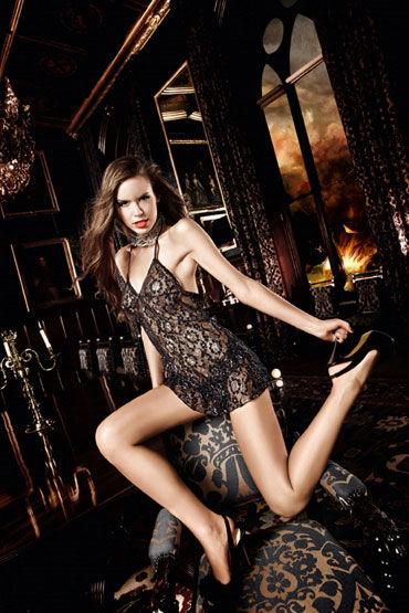 Baci мини-платье, черно-серебристое С завязками за шее и орнаментом cotelli платье горничной черно белое с открытой спиной с застежкой на шее