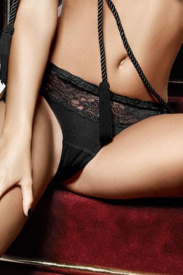 Baci G-стринги, черные С кружевными элементами маска baci lingerie со стразами masq midnight черная