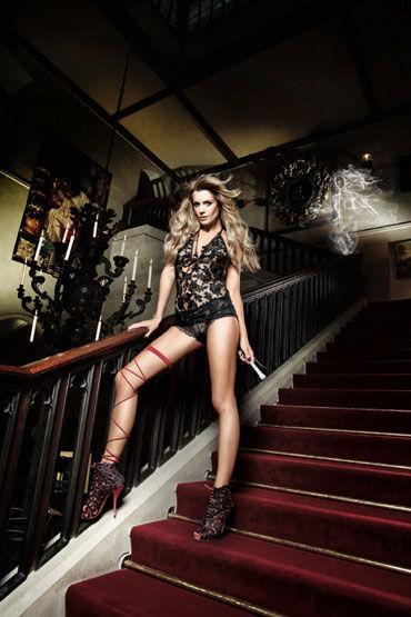 Baci мини-платье, черное С завязками за шее перьевые наручники bijoux indiscrets za za zu feather handcuffs