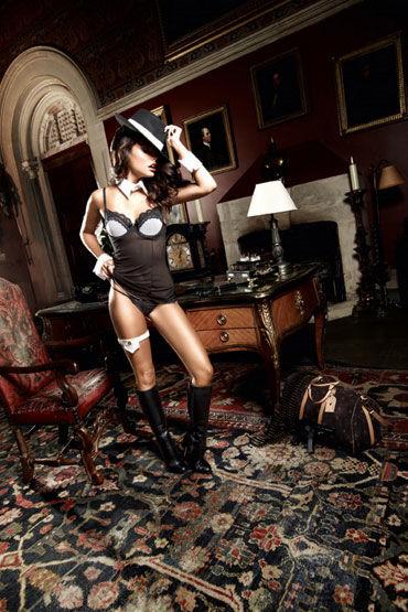 Baci мини-платье, черное Из тюлевой ткани ann devine sexy phinestone choker золотой ошейник с игривой надписью
