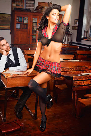 Baci Нескромная Отличница Топ, мини-юбка baci одноклассница топ и мини юбка в складочку