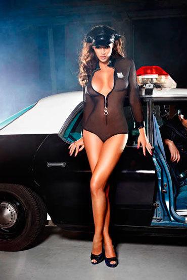 Baci Полиция Нравов Боди, значок и фуражка у baci essential satin leather corset
