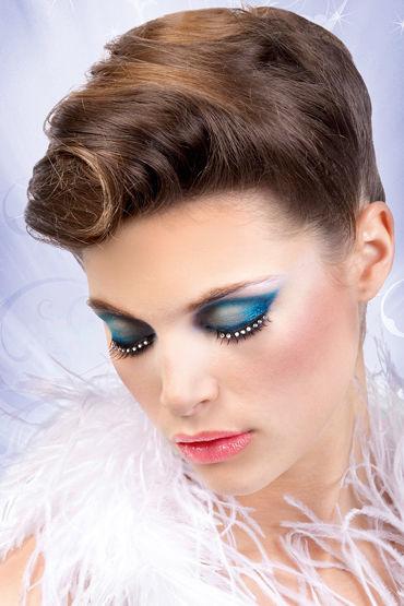 Baci Lashes, черный Накладные ресницы со стразами ресницы перья blue queen