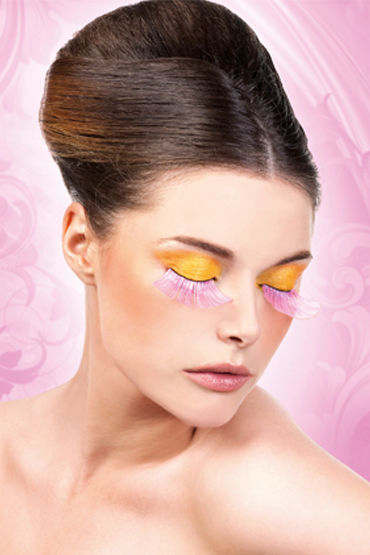 Baci Lashes, розовый Длинные накладные ресницы m obsessive julitta amazing set of