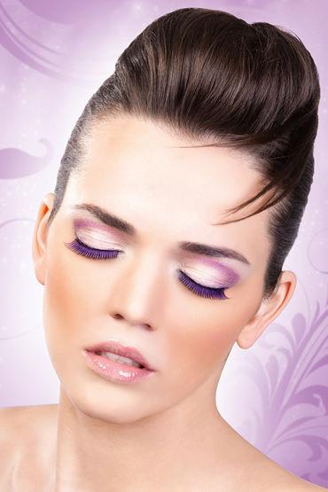 Baci Lashes, черно-фиолетовый Накладные ресницы ресницы перья голубая симфония