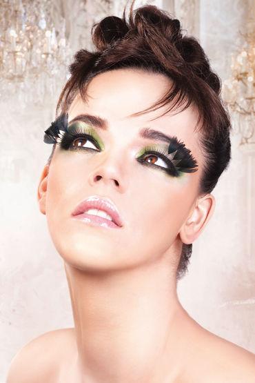 Baci Lashes, черный Накладные ресницы с перьями кэтсьюты и чулки на тело baci lingerie официальный сайт