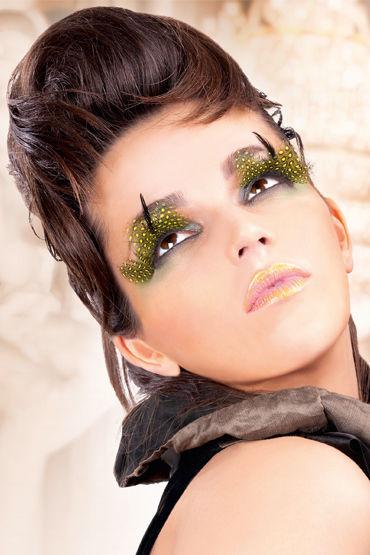 Baci Lashes, желто-черный Накладные ресницы с перьями baci lashes черный накладные ресницы с перьями