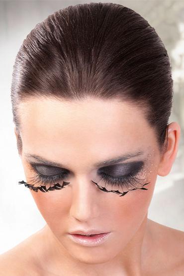 Baci Lashes, черный Накладные ресницы с перьями baci lashes красно фиолетовый накладные ресницы с перьями