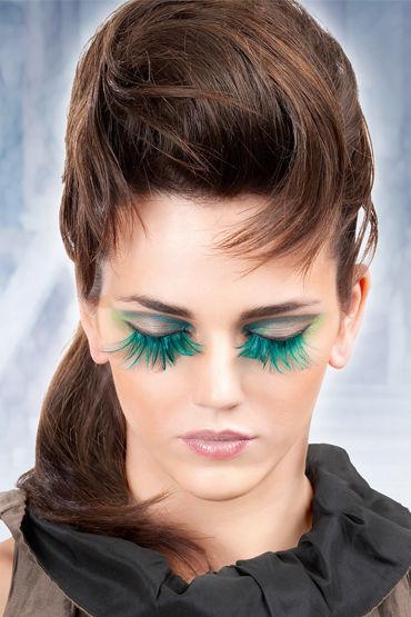 Baci Lashes, голубой Накладные ресницы с перьями baci lashes красно фиолетовый накладные ресницы с перьями