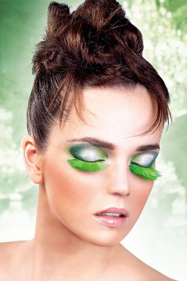 Baci Lashes, зеленый Накладные ресницы с перьями baci lashes deluxe черный накладные ресницы