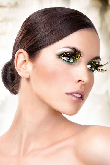 Baci Lashes, желто-черный Накладные ресницы с перьями baci lashes красно фиолетовый накладные ресницы с перьями