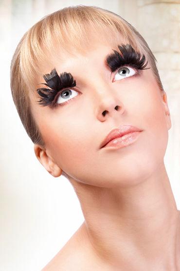 Baci Lashes, черный Накладные ресницы с перьями ресницы перья blue queen