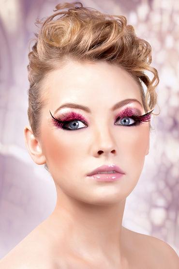 Baci Lashes, розово-черный Накладные ресницы с перьями baci lashes черный накладные ресницы с перьями