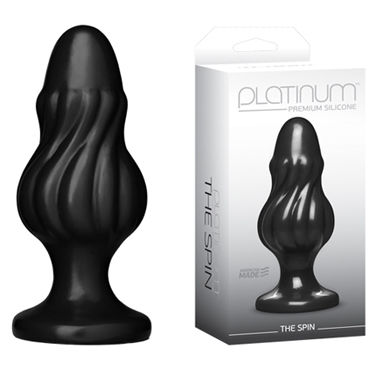 Doc Johnson Platinum Premium Silicone The Spin Анальная пробка к doc johnson kink ace silicone plug 7 5см черная