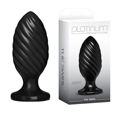 Doc Johnson Platinum Premium Silicone The Swirl Анальная пробка к doc johnson kink ace silicone plug 7 5см черная
