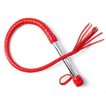 Sitabella BDSM Плеть однохвостая, красная С хлопушкой sitabella плеть лента черно красная с металлической рукояткой