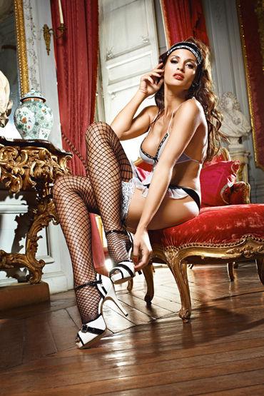 Baci Dreams Shiny French Maid Чулки в крупную сетку эротическая одежда и обувь материал эластан