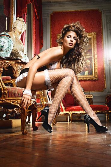 Baci Dreams French Maid Чулки в крупную сетку эротическая одежда и обувь материал эластан