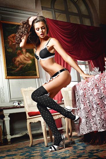 Baci Dreams Playful French Maid Чулки в горошек чулки private french maid высокие в мелкую сетку черные 42 46