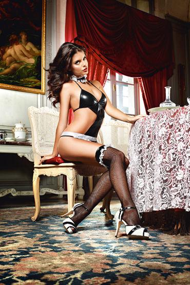Baci Dreams Privat French Maid Высокие чулки в мелкую сетку baci dreams laundry french maid чулки с вертикальными полосками