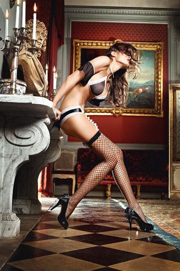 Baci Dreams Careless French Maid Высокие чулки в крупную сетку чулки private french maid высокие в мелкую сетку черные 42 46