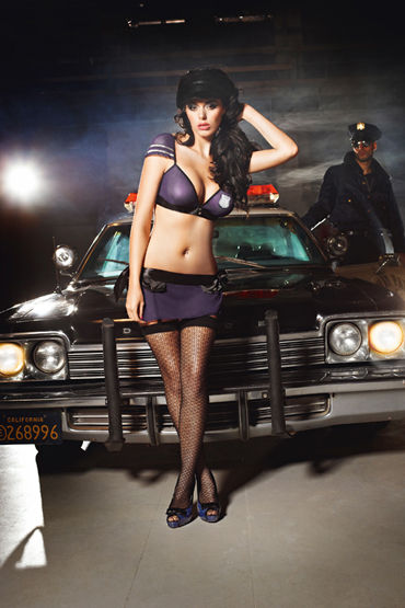 Baci Dreams Night Patrol Police Высокие узорчатые чулки you2toys butterfly wings виброкольцо для пениса