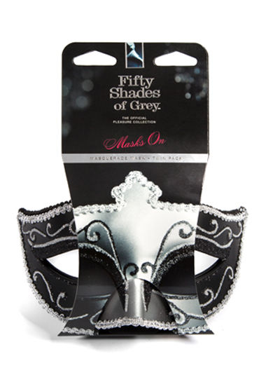 Fifty Shades of Grey Masks On Masquerade Mask Twin Pack Две маскарадные маски doc johnson sultry spanker спанкер из искусственной кожи