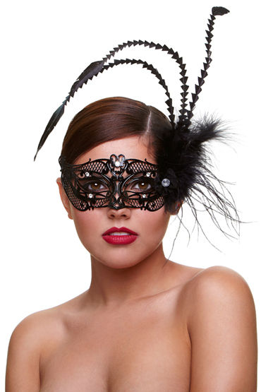 Baci Dreams Mask Fantasia Маска со стразами и пухом baci dreams mask courtesan маска со стразами