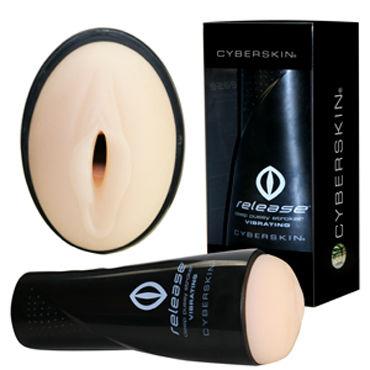 Topco CyberSkin Release Deep Pussy Stroker, телесный Мастурбатор-вагина в тубе с вибрацией sally мастурбатор вагина мини без вибрации
