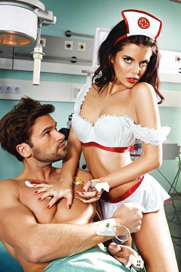 Baci Экстравагантная медсестра Блузка, юбка-фартук и чепец baci лолита топ мини юбка
