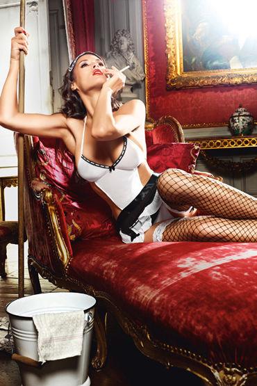 Baci Служанка Кэти Фартук, трусики и маска на глаза baci сексуальная служанка мини платье воротничок и перчатки