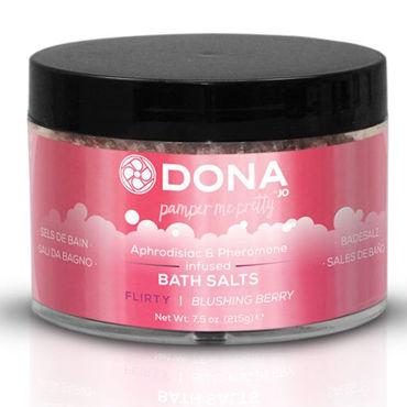 Dona Bath Salt Flirty Aroma Blushing Berry, 215 г Соль для ванны меняющая цвет воды с ароматом Флирт увлажняющие смазки sico bumming