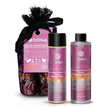 Dona Be Sexy Gift Set - Sassy Гель для душа и кондиционер для белья с ароматом Страсть dona be romanced gift set flirty