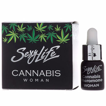 Sexy Life Cannabis Woman, 5 мл Концентрат феромонов с ароматом конопли для женщин sexy life animal musk man 5 мл концентрат феромонов с ароматом мускуса для мужчин