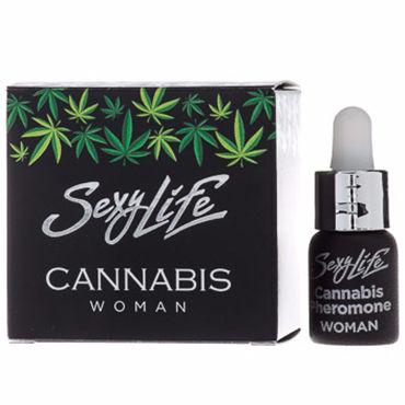 Sexy Life Cannabis Woman, 5 мл Концентрат феромонов с ароматом конопли для женщин концентрат феромонов для женщин sexy life 50%