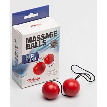 Sitabella Massage Balls Double Ball Set, красный Шарики массажные й loverspremium o balls set розовый