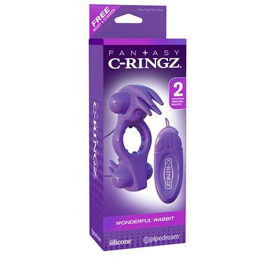 Pipedream Fantasy C-Ringz Wonderful Wabbit Эрекционное кольцо с двумя виброэлементами с пультом управления sico презервативы ribbed ребристые 3 шт