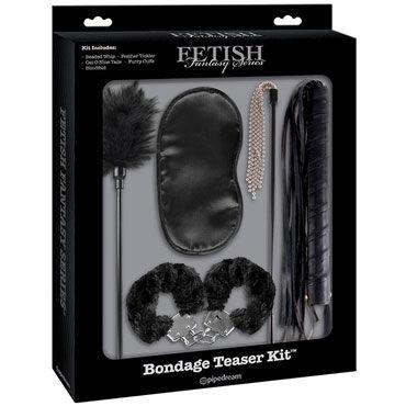 Pipedream Bondage Teaser Kit, черный Набор для интимных удовольствий gopaldas mojo black jack фаллоимитатор для двойного проникновения