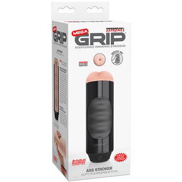 Pipedream Mega Grip Vibrating Stroker Ass, черный Мастурбатор-анус с вибрацией мастурбатор анус pipedream extreme bumpy bitch