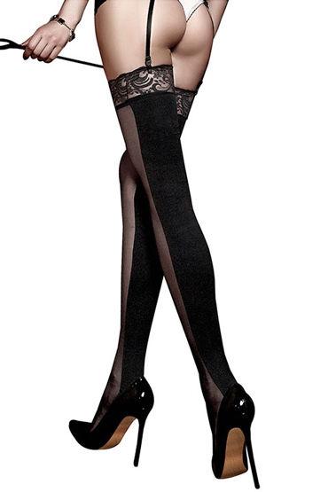 Baci Чулки двусторонние, черные С кружевной резинкой костюмы и одежда для ролевых игр flirt on