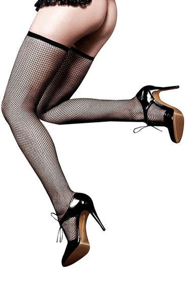 Baci Чулки классические, черные Ажурные в сетку чулки private french maid высокие в мелкую сетку черные 42 46